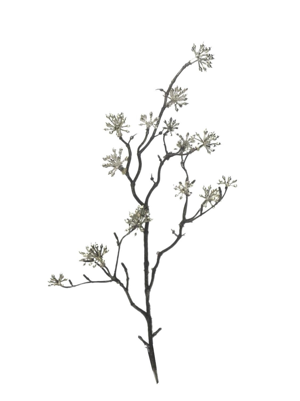 """Fruchtzweig """"Metallic Seed"""" silber 38 cm lang"""