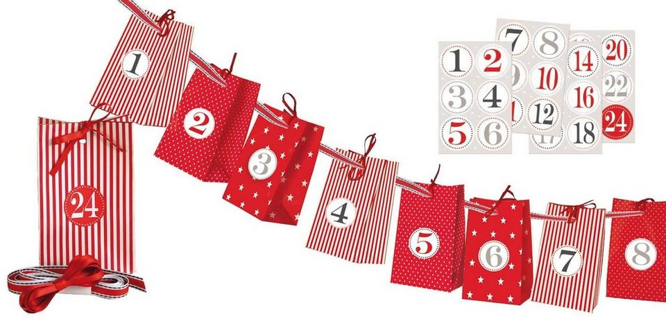 adventskalender papiert ten bastelset mix 30 teile. Black Bedroom Furniture Sets. Home Design Ideas