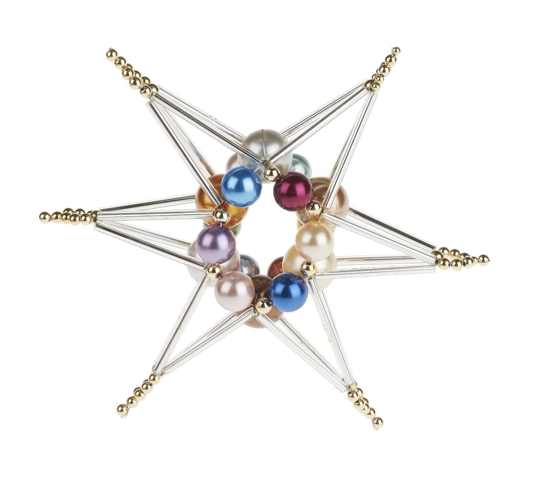 "Bastelset Perlenengel ""3D Multicolor"" 11 cm groß"