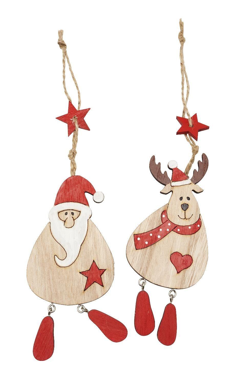 """VBS Weihnachts-Dekoanhänger """"Santa & Deer"""" 2 Stück"""