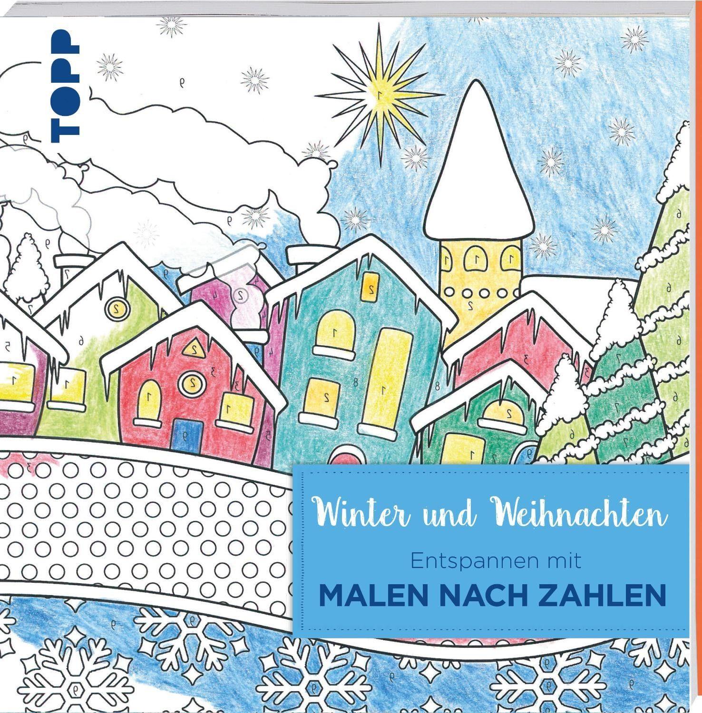 """Topp Buch """"Winter und Weihnachten-Entspannen mit Malen nach Zahlen"""""""