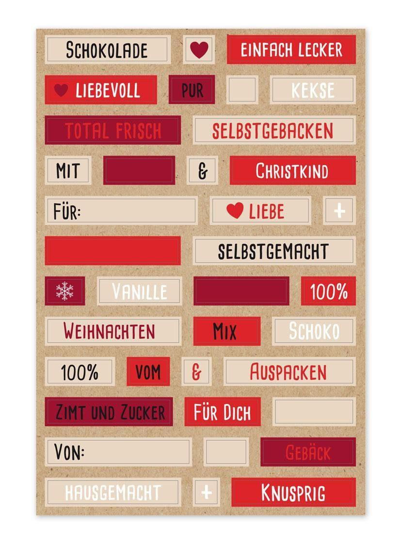 """Sticker """"Wortspiel zu Weihnachten"""" 152 Stück"""