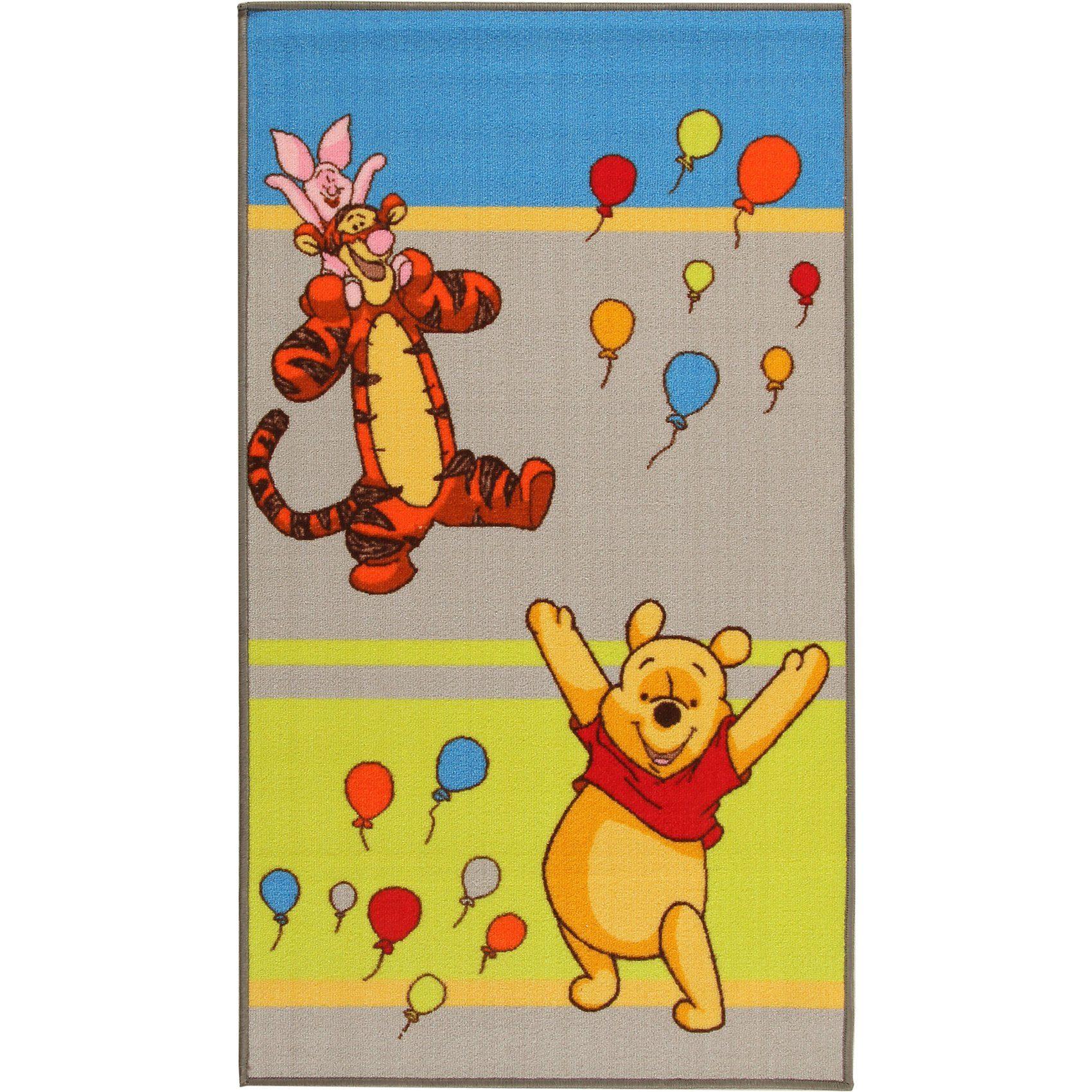 Kinderteppich Winnie Puuh und Freunde, Ballons, 80 x 140 cm