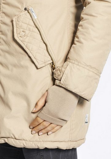 khujo Winterjacke KOURTNEY, mit Handstulpen aus Strick