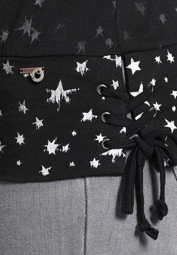 khujo Langarmshirt STRAND, mit Sternenmuster