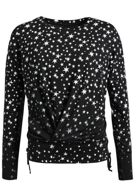 khujo Langarmshirt »STRAND« mit Sternenmuster