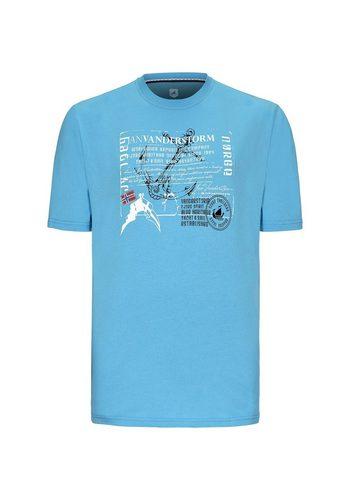 Herren Jan Vanderstorm T-Shirt VEEMAN blau | 04056916187171