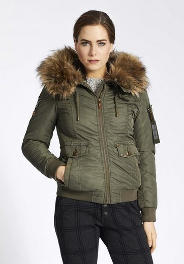 Khujo Winterjacke Mia, With Removable Faux Fur On The Hood