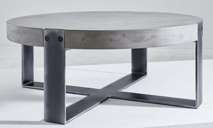 kasper wohndesign couchtisch beton rohstahl rund schwarz cora online kaufen otto. Black Bedroom Furniture Sets. Home Design Ideas