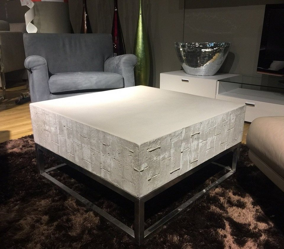 kasper wohndesign beistelltisch gro edelstahlgestell beton grau noha online kaufen otto. Black Bedroom Furniture Sets. Home Design Ideas