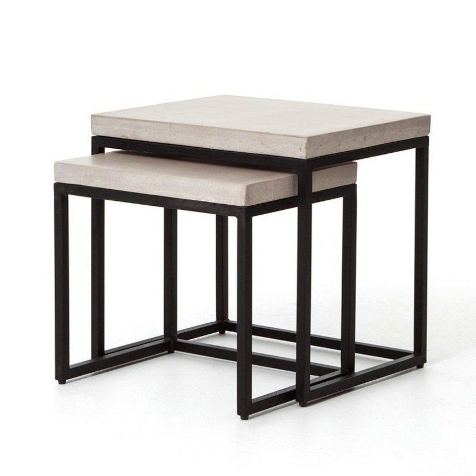Kasper Wohndesign: Kasper-Wohndesign Beistelltischsatz Eisen/Beton »AlABAMA