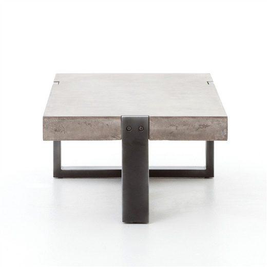 kasper wohndesign couchtisch beton rohstahl quadratisch. Black Bedroom Furniture Sets. Home Design Ideas
