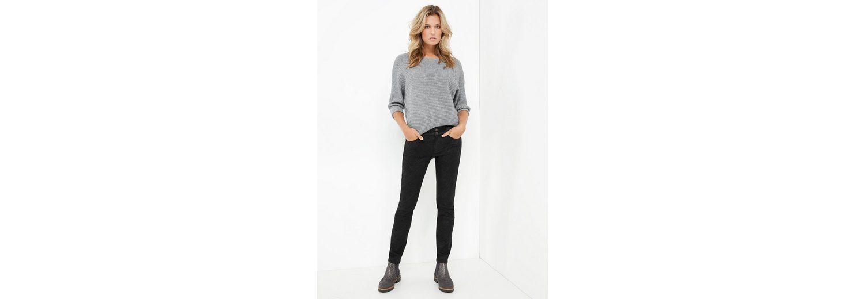 Taifun Hose Jeans lang Hose mit unregelmäßiger Beschichtung, Skinny TS