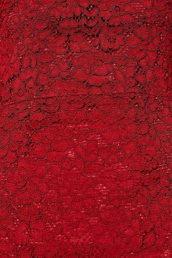 ESPRIT COLLECTION Figurbetontes Spitzen-Kleid mit Stehkragen