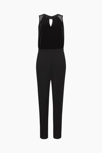 ESPRIT COLLECTION Eleganter Jumpsuit aus Jersey und Samt