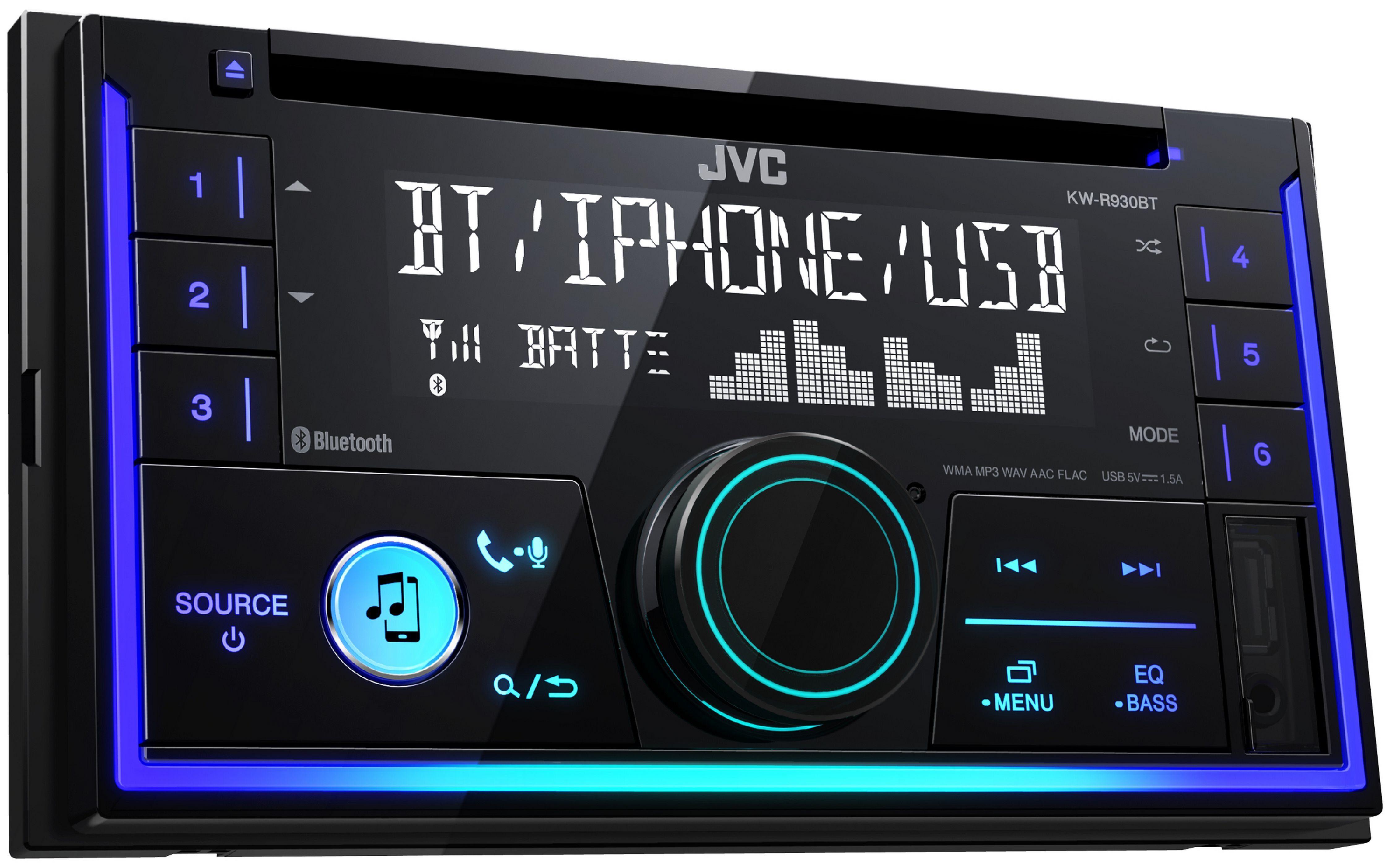 JVC 2-DIN Autoradio, Bluetooth und Audiostreaming »KW-R930BT«