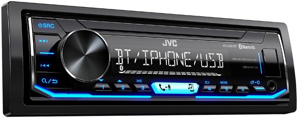 jvc autoradio mit bluetooth usb aux in schnittstellen und a2dp kd x351bt online kaufen otto. Black Bedroom Furniture Sets. Home Design Ideas