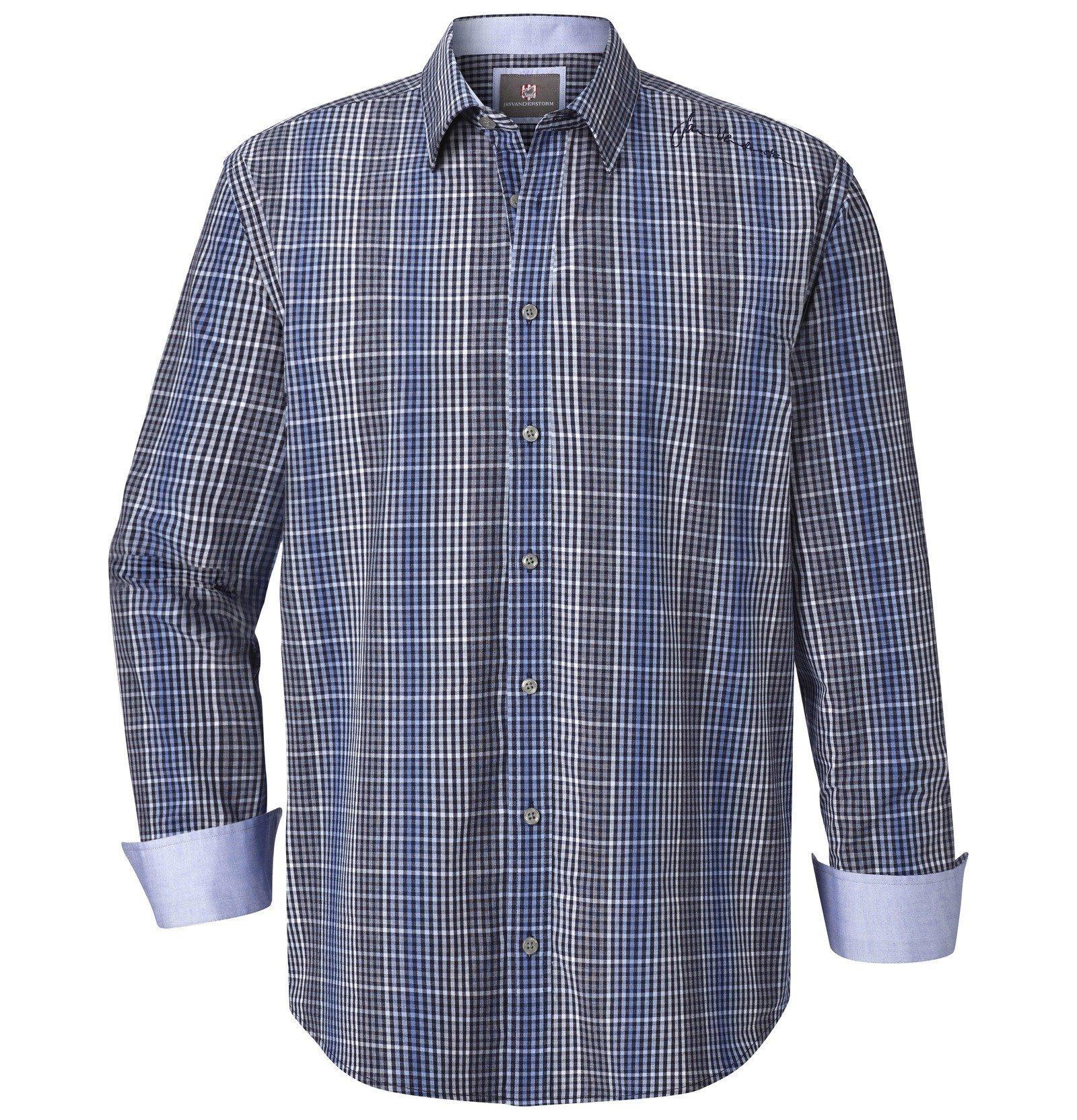 Jan Vanderstorm Langarmhemd »MIJAN« | Bekleidung > Hemden > Sonstige Hemden | Blau | Jan Vanderstorm