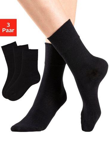 Rogo Socken (3-Paar) mit Komfortbund auch für Diabetiker geeignet