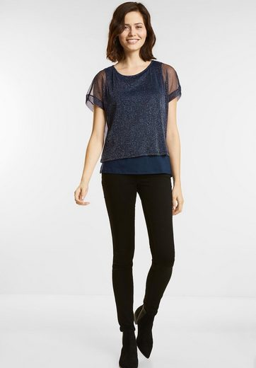 Street One Glitzerndes Layering Shirt