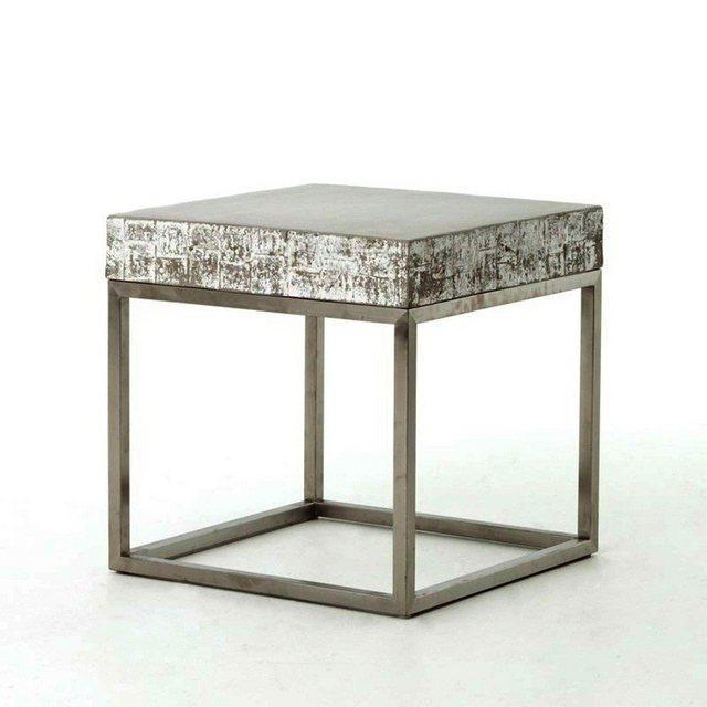 Wohnzimmertische - Kasper Wohndesign Beistelltisch Edelstahlgestell Beton grau »NOHA«  - Onlineshop OTTO