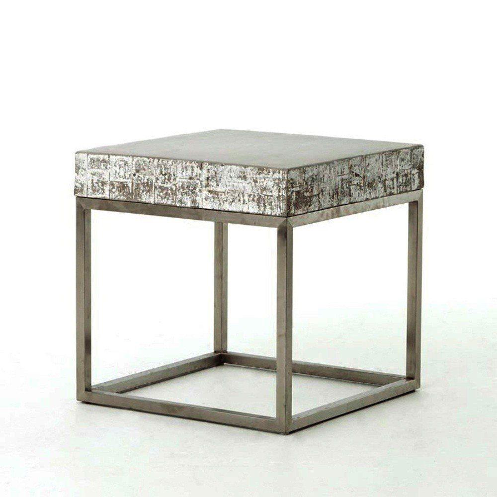 Kasper-Wohndesign Beistelltisch Edelstahlgestell Beton grau »NOHA«