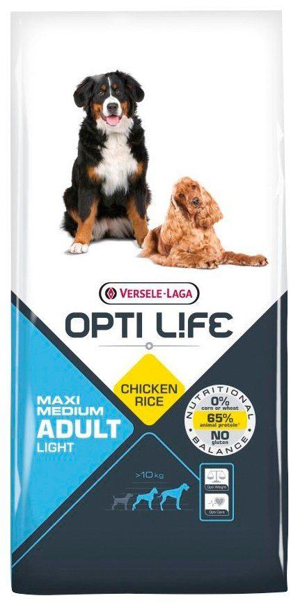 BENTO KRONEN Hundetrockenfutter »Opti Life Adult Light Medium&Maxi«, 12,5 kg