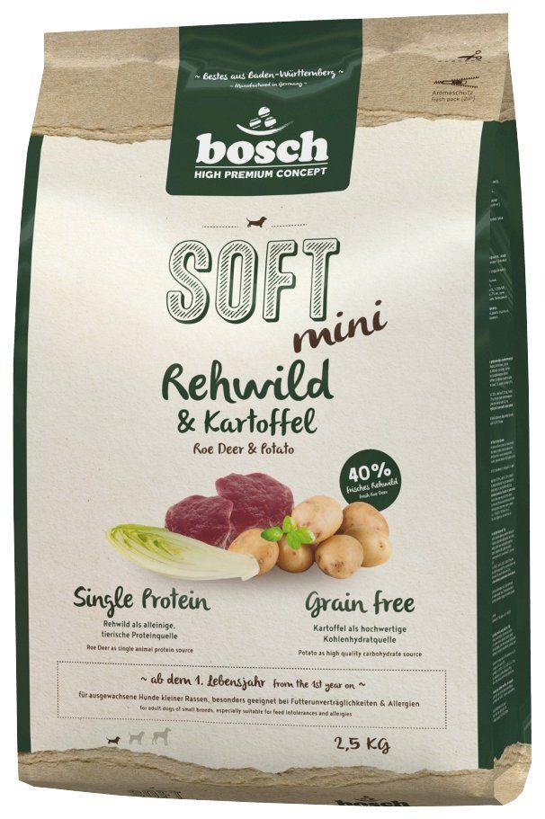 BOSCH PETFOOD Hundetrockenfutter »Soft Mini Rehwild und Kartoffel«, 2,5 kg