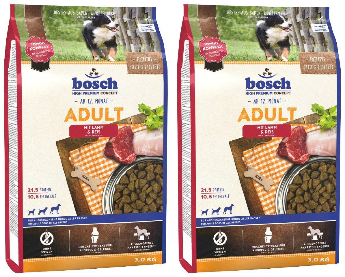 BOSCH PETFOOD Hundetrockenfutter »Lamm und Reis«, 2 Beutel á 3 kg