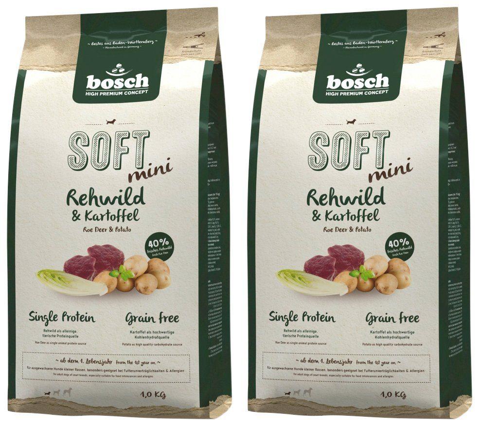 BOSCH PETFOOD Hundetrockenfutter »Soft Mini Rehwild und Kartoffel«, 2 Beutel á 1 kg
