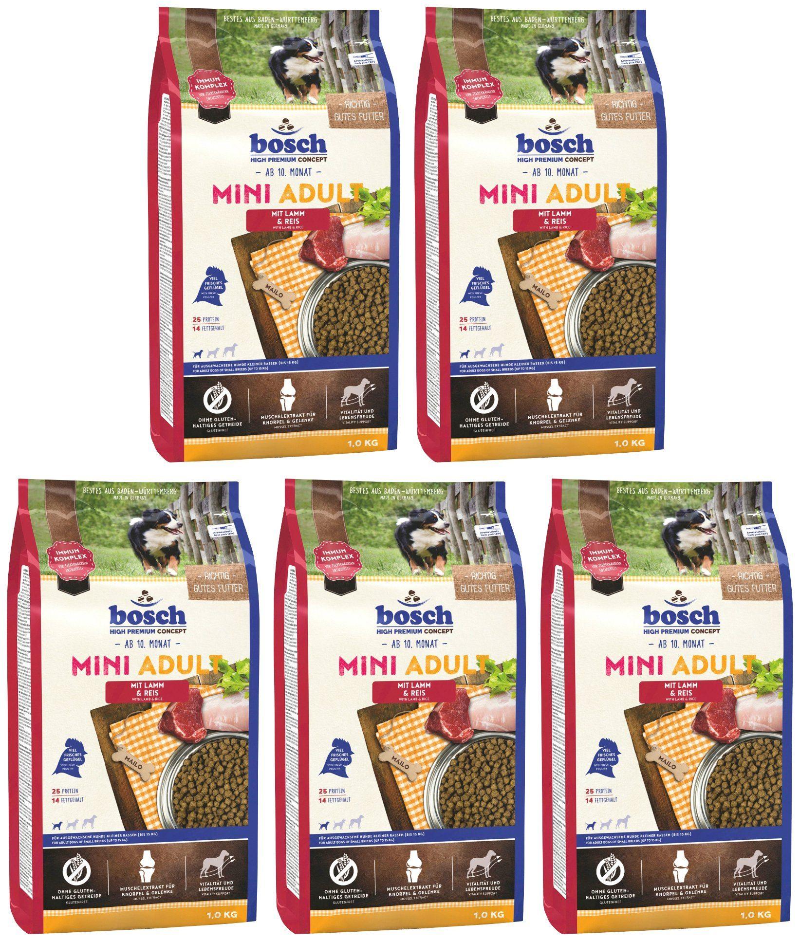 BOSCH PETFOOD Hundetrockenfutter »Mini Lamm und Reis«, 5 Beutel á 1 kg