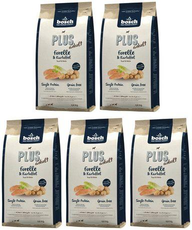 BOSCH PETFOOD Hundetrockenfutter »Plus Forelle und Kartoffel«, 5 Beutel á 1 kg