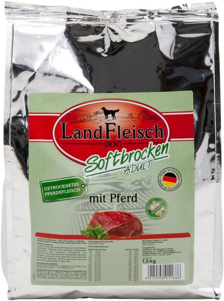 LANDFLEISCH Hundetrockenfutter »Softbrocken Pferd«, 1,5 kg - Preisvergleich