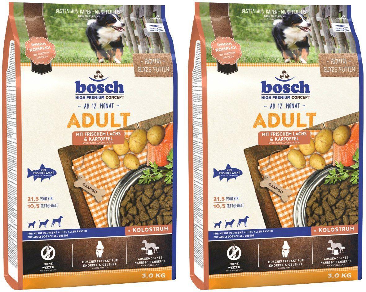 BOSCH PETFOOD Hundetrockenfutter »Lachs und Kartoffel«, 2 Beutel á 3 kg