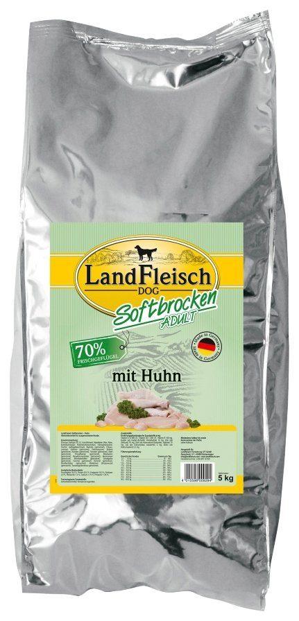LANDFLEISCH Hundetrockenfutter »Softbrocken Huhn«, 5 kg