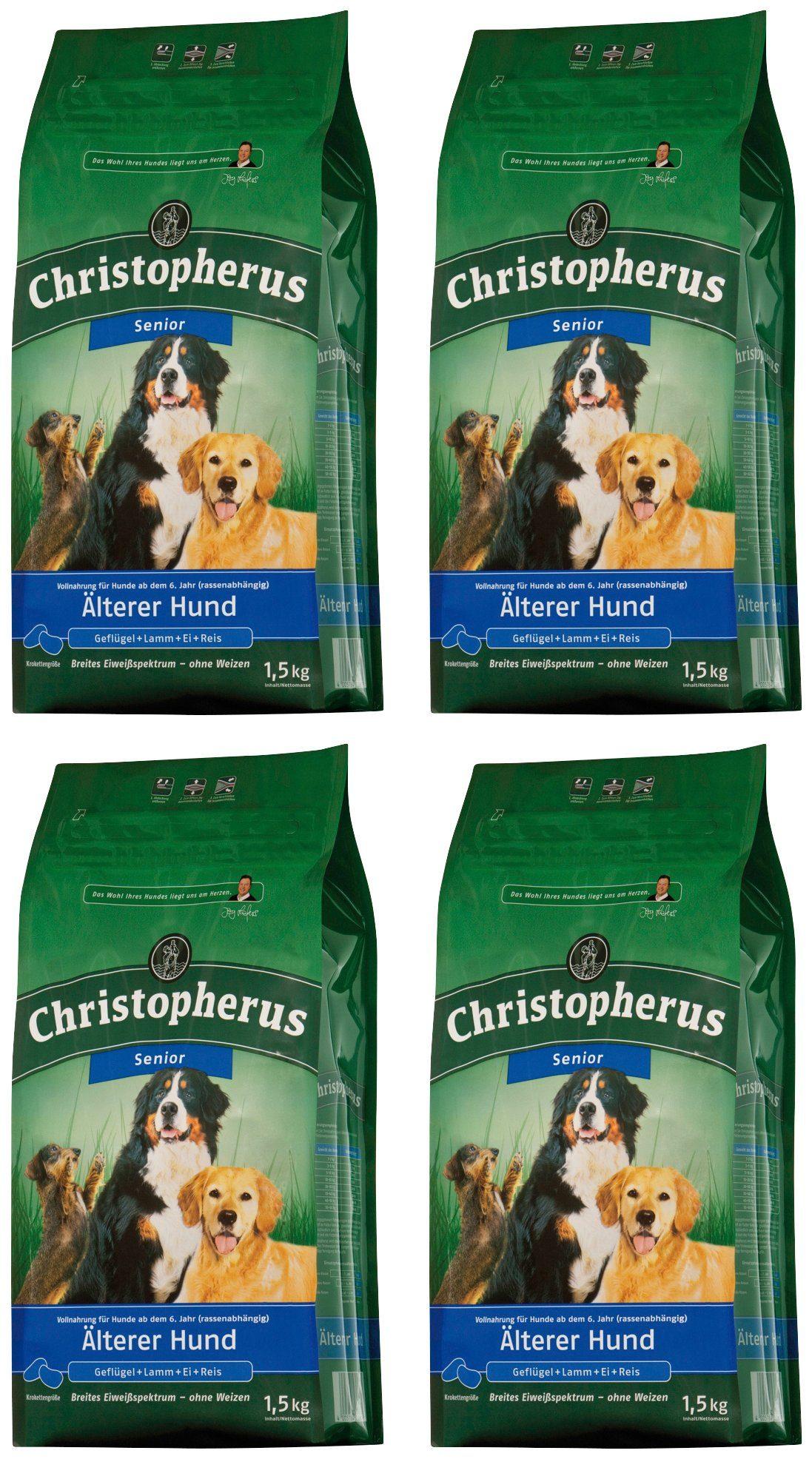 CHRISTOPHERUS Hundetrockenfutter »Älterer Hund«, 4 Beutel á 1,5 kg