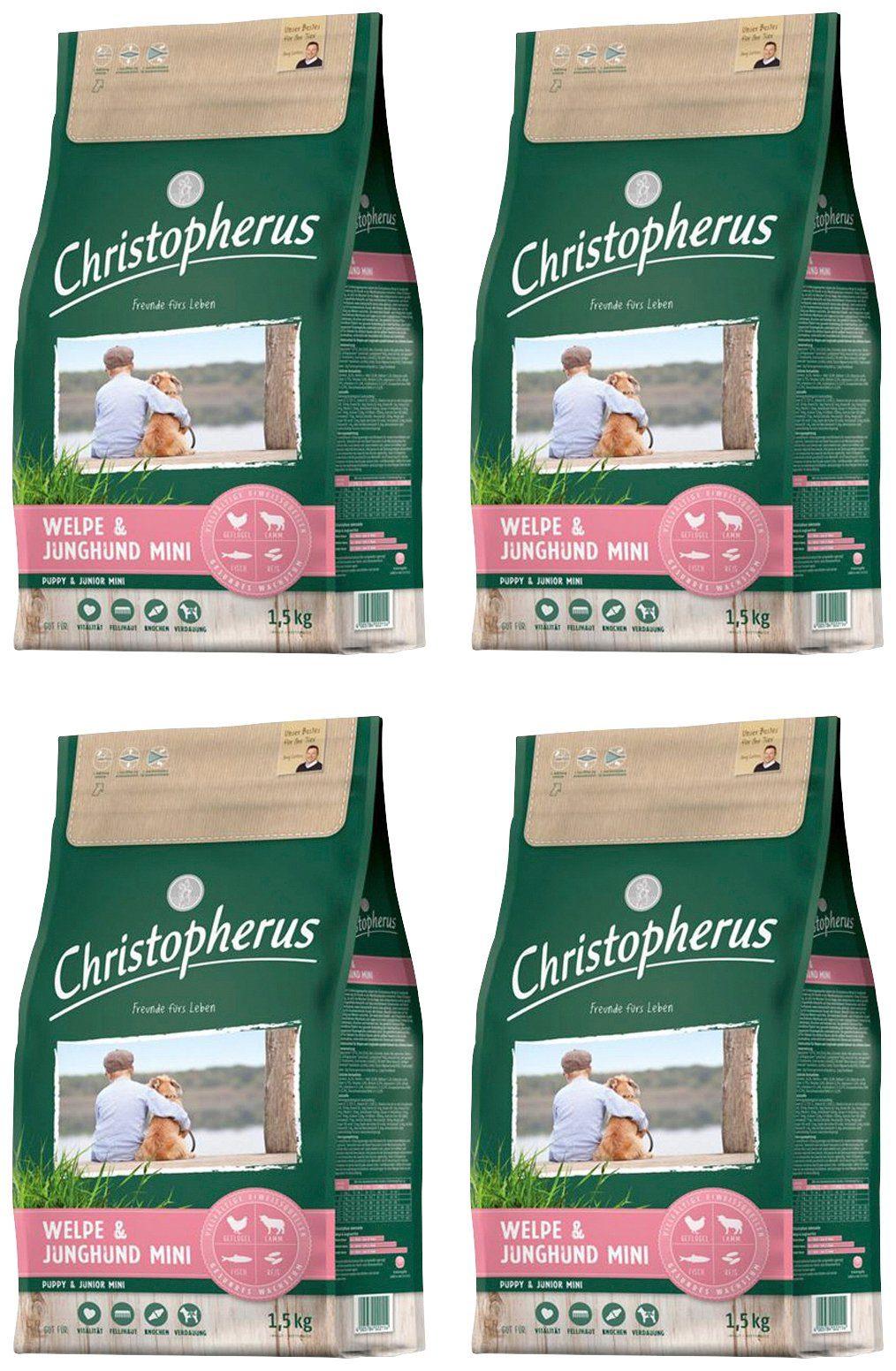 CHRISTOPHERUS Hundetrockenfutter »Welpe - Junghund Mini«, 4 Beutel á 1,5 kg