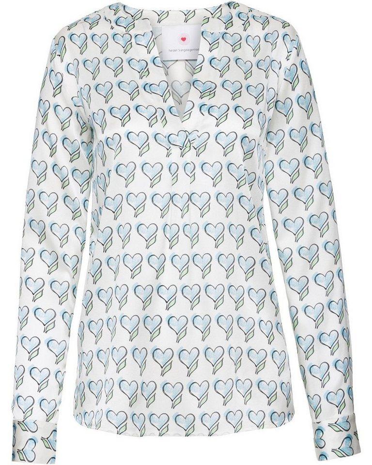 Herzensangelegenheit Tunika | Bekleidung > Tuniken > Sonstige Tuniken | Blau | Seide - Elastan | Herzensangelegenheit