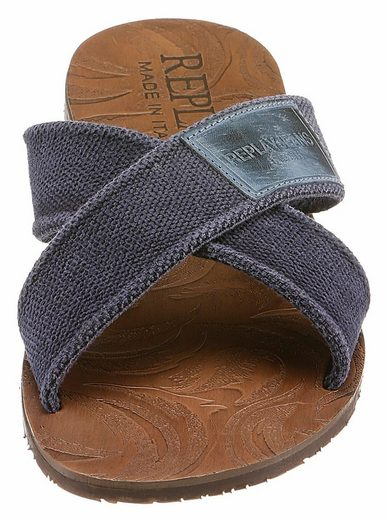 Replay Mans Pantolette, mit stylischer Kreuzbandage