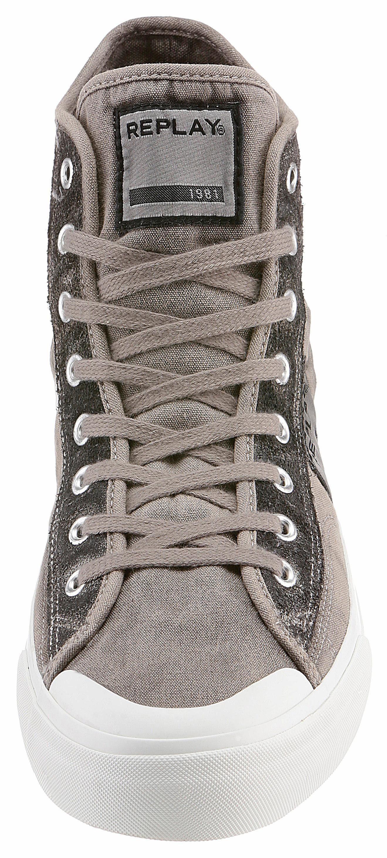 Replay Radio Sneaker, mit Logo-Patch kaufen  taupe