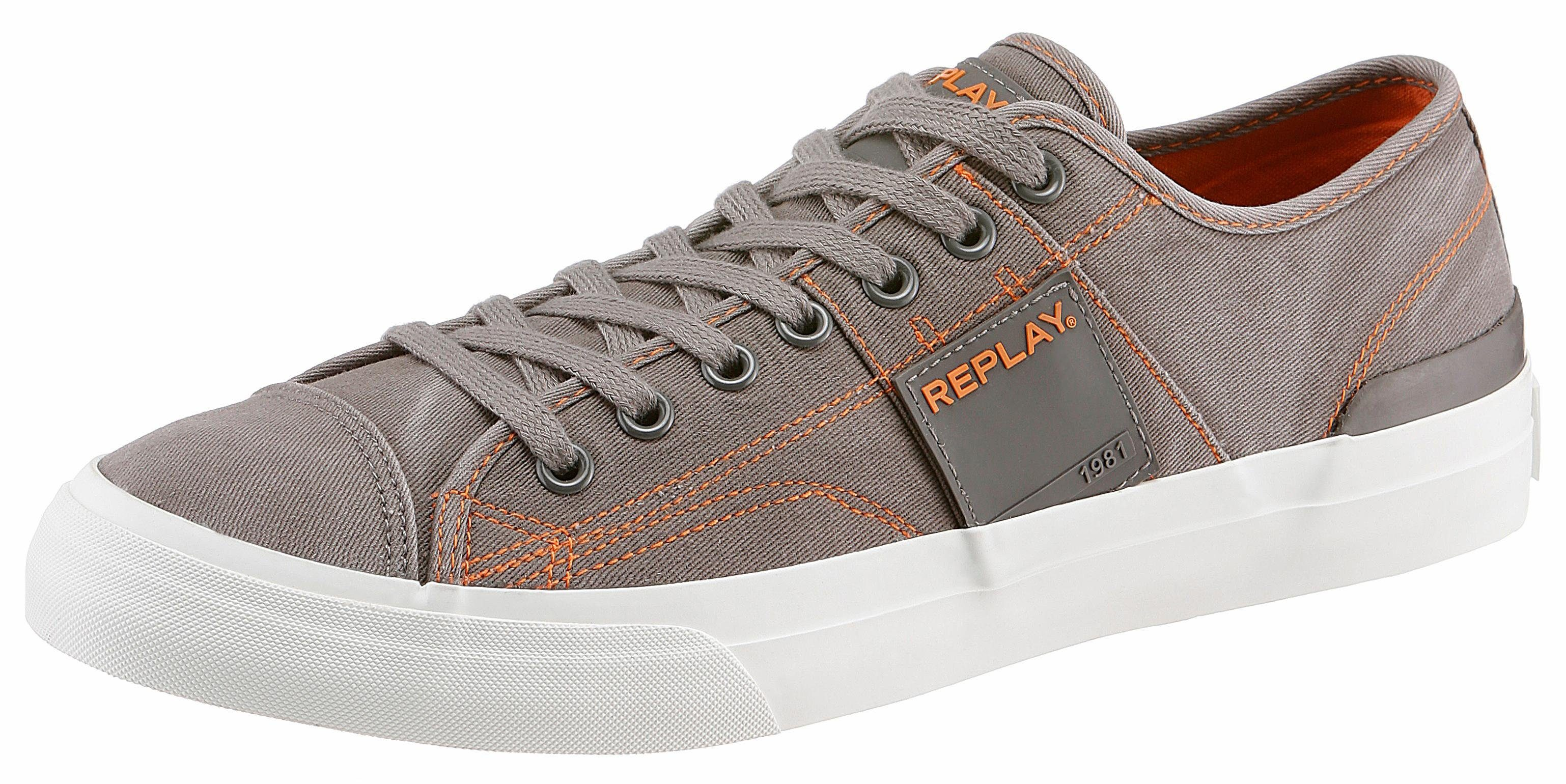 Replay Maple Sneaker, mit angesagten Kontrastnähten online kaufen  grau-orange-used