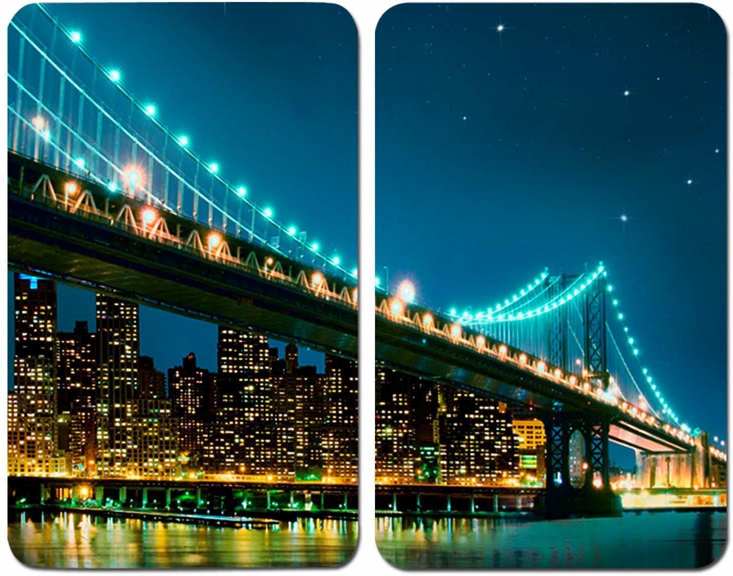 Set: Herd-Abdeckplatten, Wenko, »Brooklyn Bridge« (2 Stck.)