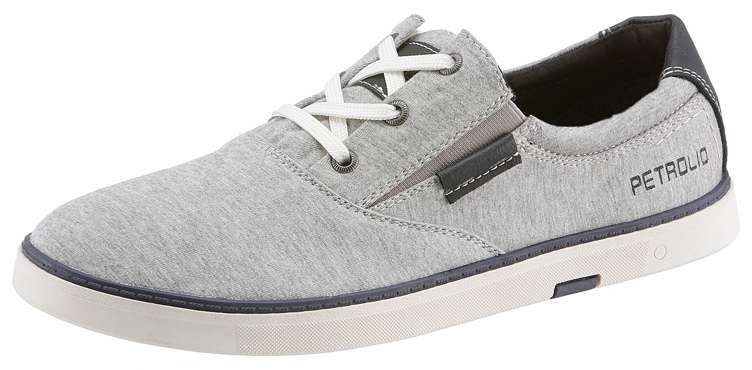 PETROLIO Sneaker, im Materialmix online kaufen  hellgrau