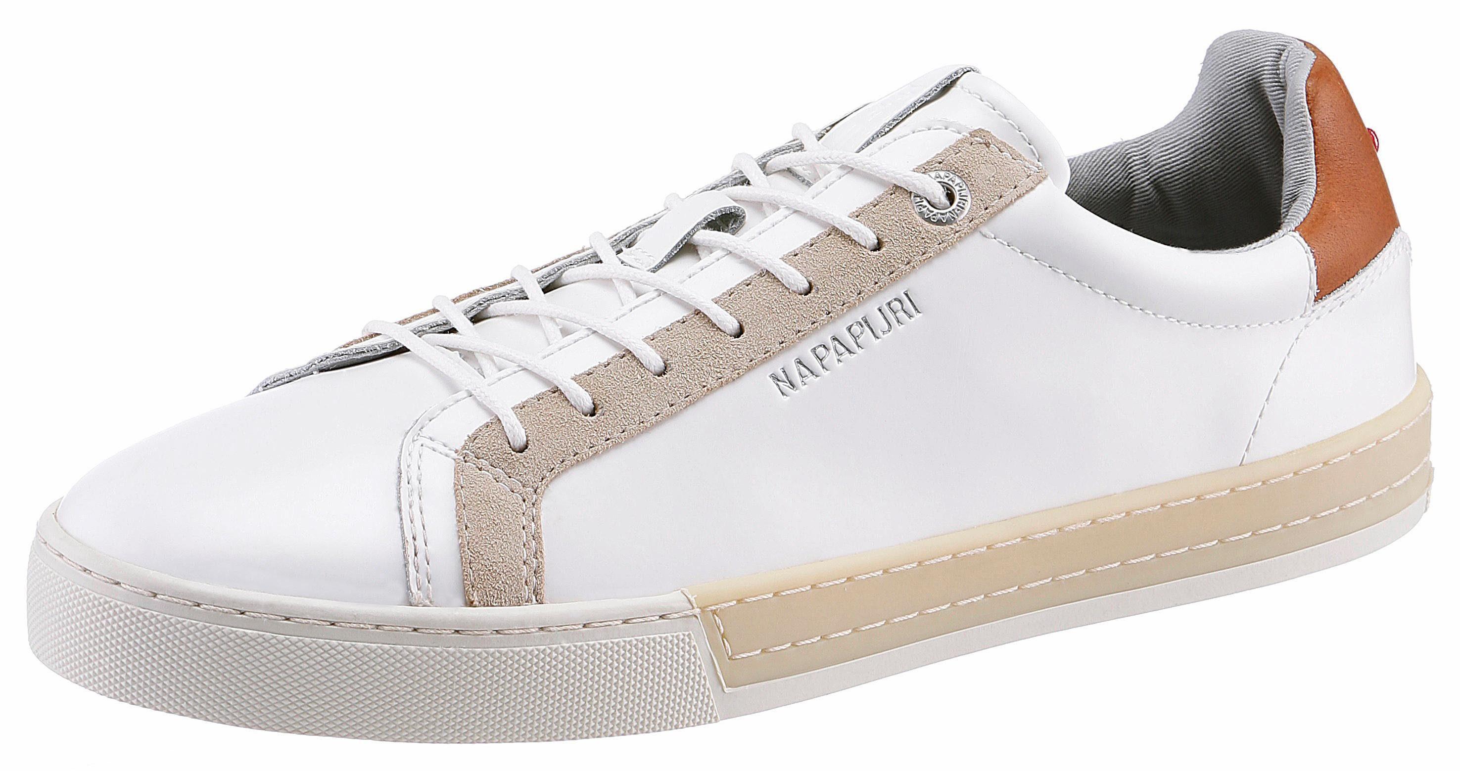 Napapijri Plus Sneaker, mit kontrastfarbenen Einsätzen online kaufen  weiß-beige
