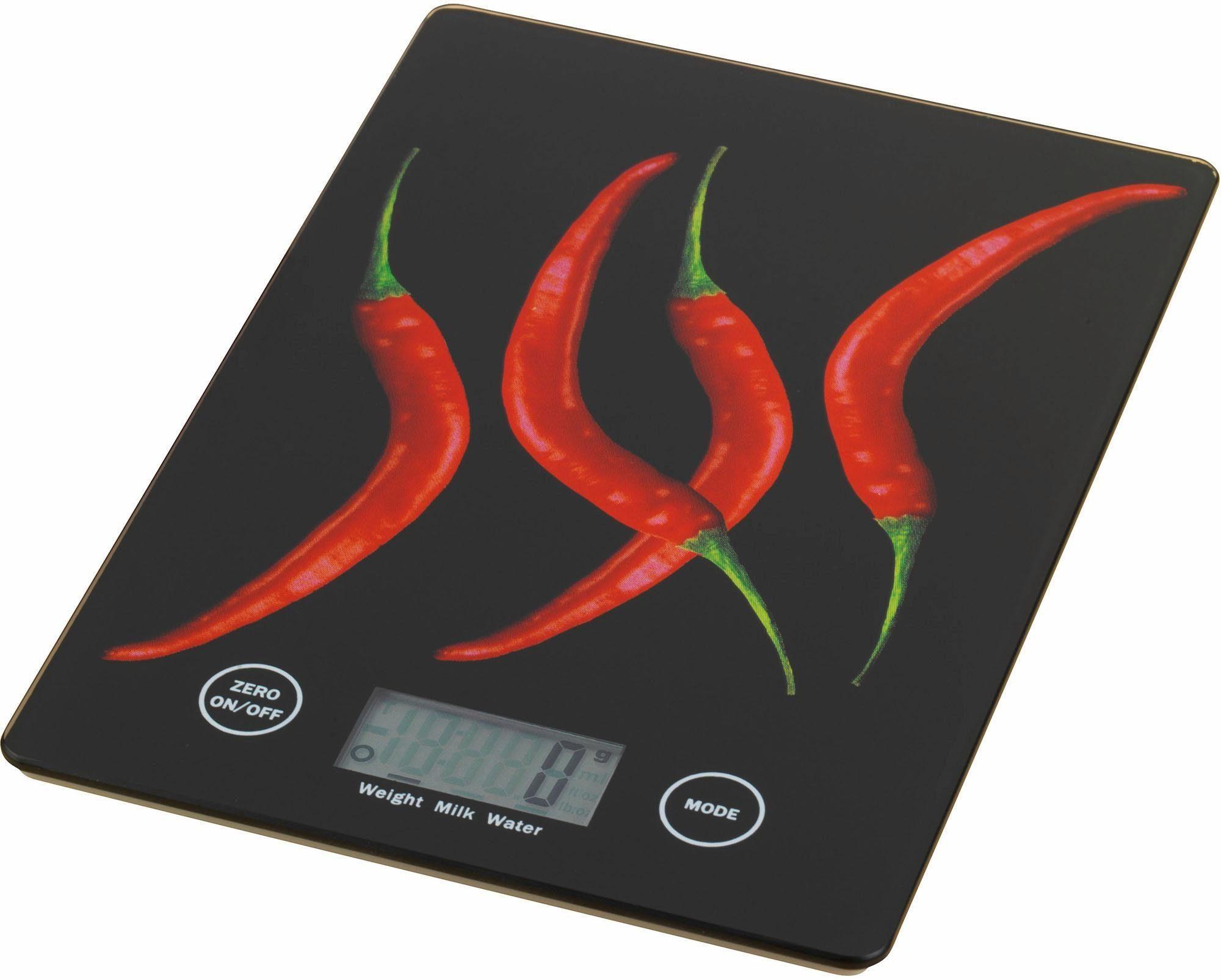 Digitale Slim-Küchenwaage, Wenko, »PEPERONI«