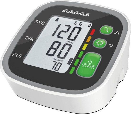 Soehnle Oberarm-Blutdruckmessgerät Systo Monitor 300, integrierter Bewegungssensor für korrekte Messergebnisse
