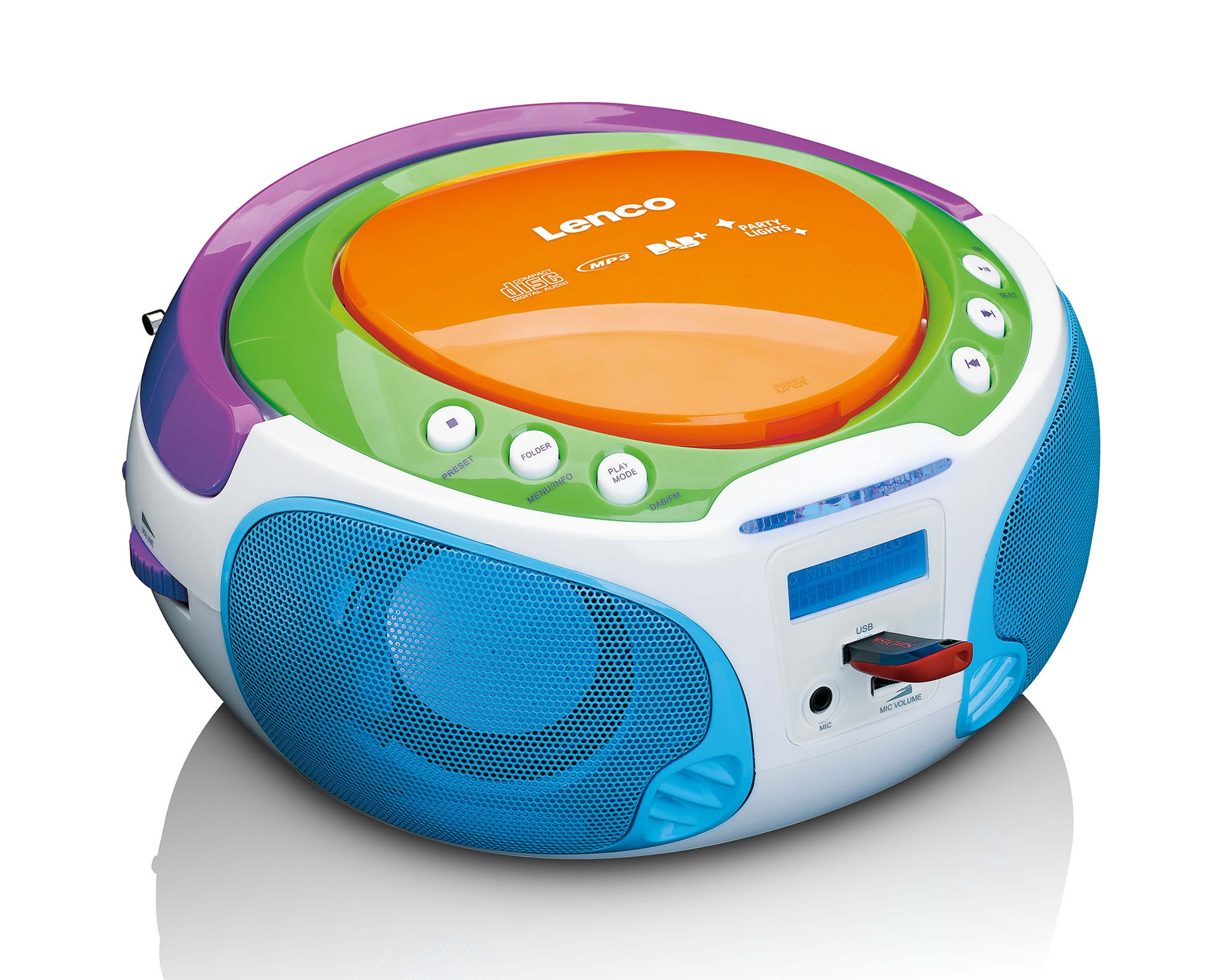 Lenco Kinder - DAB+ / FM Radio mit CD-/MP3-Player, USB-Anschluss »SCD-651«
