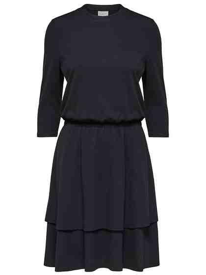 Selected Femme Drapiertes Kleid mit kurzen Ärmeln