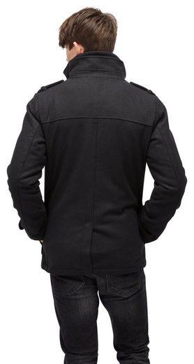Tom Tailor Denim Anorak Wollmantel mit Taschen
