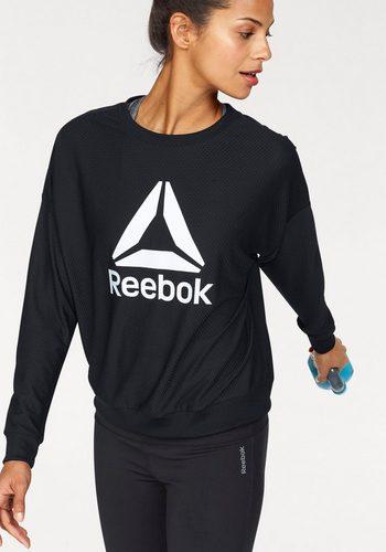 Damen Reebok Funktionsshirt WORKOUT READY MESH CREW NECK schwarz | 04059808844817